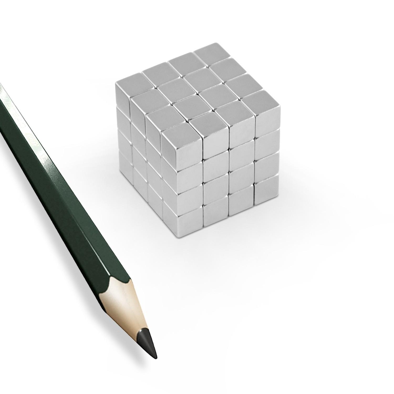 20 neodym magnete w rfel ndfeb n45 8mm 4 5kg ebay. Black Bedroom Furniture Sets. Home Design Ideas